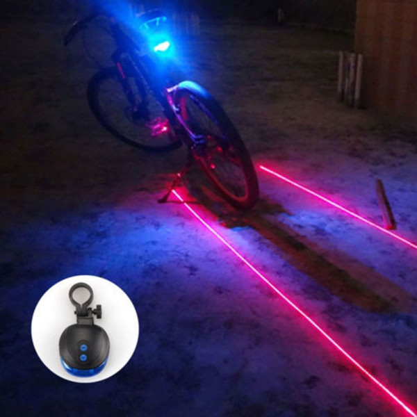 Luz Laser Led Azul Traseira Para Bicicleta Venda On Line