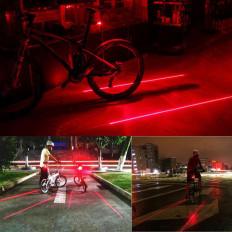Luz LED trasera de bicicleta con 2 laser