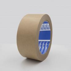 Cinta adhesiva de enmascarar de papel 80° C resistente.