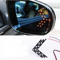 2 flechas luminosas con 14 LED SMD para retrovisores de coche