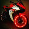 Bandes adhésives réfléchissantes de la marque 3M™ pour moto -