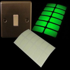 Glow in the dark luminiscent stickers for light switch - 24 pieces