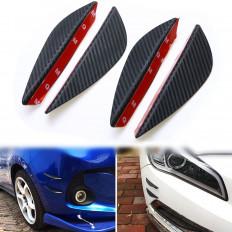 4 Aletas protección parachoques ABS fibra de carbono moldeable
