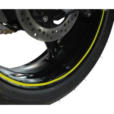 Bicicleta de rayas de 3 m ™ banda adhesiva fluorescente roja amarilla o verde de la rueda