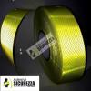 Cinta adhesiva reflectante amarillo fluorescente para una