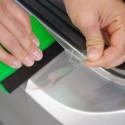 Película adesiva transparente para a proteção das bicicletas e outros veículos
