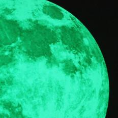 Lua cheia autocolante fotoluminescente que brilha no escuro - 30 cm