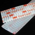 Pegatinas transparentes rectangulares en velcro Dual Lock™ de la marca 3M™ , serie SJ 3560 - 25 mm x 5 cm