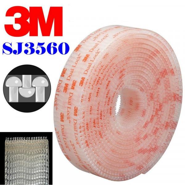 3m Sj3560 Dual Lock Tape Clear Vhb Adhesive Roll 25 Mm