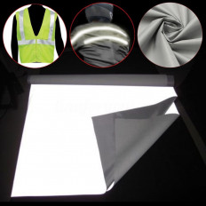 High visibility EN471 approved silver reflective fabric sew on