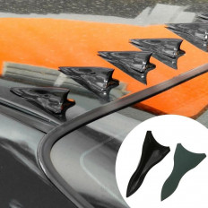 10 spoiler auto a pinna di squalo per tetto/parabrezza universali