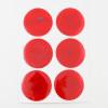 6 discos adesivos refletivos realizados com material 3M™