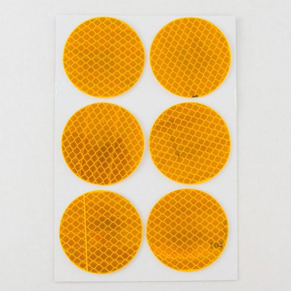 6 3m Diamond Grade Reflective Circular Decals Stickers