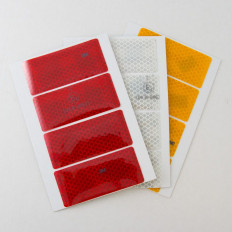 6 pegatinas rectangulares reflectantes realizadas con material
