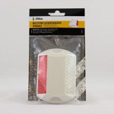 Réflecteur de route en plastique blanche - 115x80x17mm vente