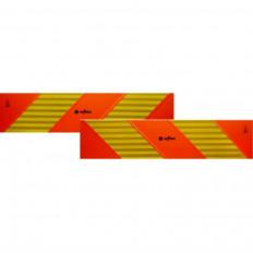ECE 70.01 Pannelli rifrangenti per motrice kit da 2 pezzi in classe 3 con supporto adesivo chevron