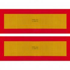 ECE 70.01 Pannelli rifrangenti per rimorchio kit da 2 pezzi in classe 3 con supporto adesivo