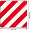 ЕСЕ 70.01 преломляющих панели для прицепа 2 штуки в классе 3 комплекта с клейкой подложкой
