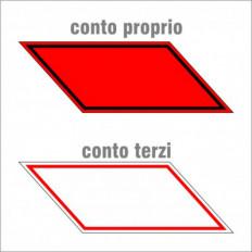 Kit contrassegni riflettenti adesivi camion trasporto cose in conto proprio nero/rosso