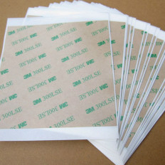 5 sheets 3M ™ 300LSE 9495LE 100 x 100mm transparent