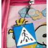 Portachiavi pendente riflettente con attraversamento strisce pedonali ideale per scuole zaini bambini