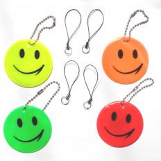 Portachiavi pendente riflettente smile ideale per scuole zaini