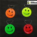 Portachiavi pendente riflettente smile ideale per scuole zaini bambini