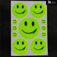 11 Adesivi smile sorriso riflettenti per bici, zaini, scooter, bici alta visibilità
