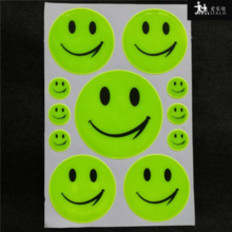 11 Reflective smile smile stickers for bikes, backpacks