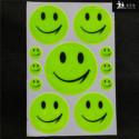 11 Адгезив улыбка отражающую улыбкой для велосипедов, рюкзаков, скутеров, мотоциклов высокой видимости