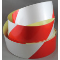Reflective Red and White chevron hazard warning tape