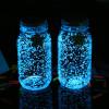 Vidrio de arena de resplandor fluorescente que brilla en la oscuridad para la decoración