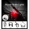 Lampada a luce di stop posteriore per bicicletta si attiva frenando