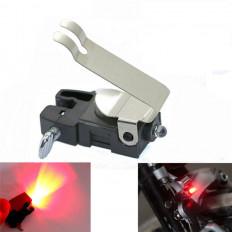 luz luz de travagem traseira de uma bicicleta que é ativado