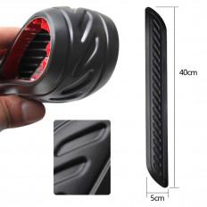 2 Pezzi protezione paraurti in gomma modellabile nera per auto