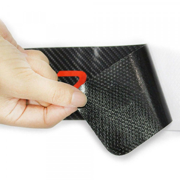 4 autocollants en carbone de protection pour vos protecteurs de porte de voiture pour viter les. Black Bedroom Furniture Sets. Home Design Ideas