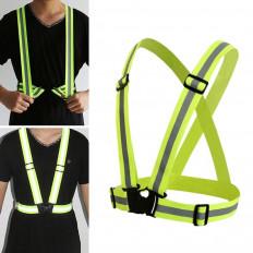 Reflective Vest amarelo fluorescente de alta visibilidade um tamanho
