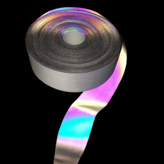 Rainbow reflective tape with holographic nuances to sew 25mm x
