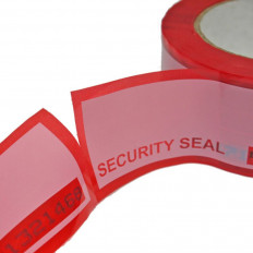 Ruban de sécurité rouge anti-manipulation