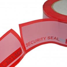 Fita de segurança vermelha com selo de garantia para empacotamento