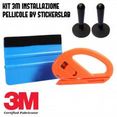 Kit applicazione pellicole car wrapping (Spatola 3M blu -