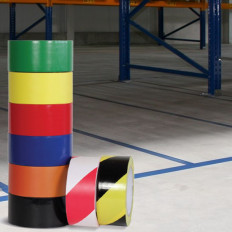 Nastro adesivo per marcatura pavimenti 25/50/75mm x 50 MT