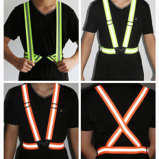 High visibility universal jackets for reflective cycling