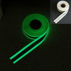Nastro da cucire luminescente con banda rifrangente al centro da 50mm
