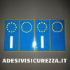 Adesivi per targa italiana kit da 4 pezzi rifrangenti ultra