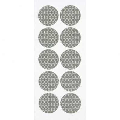 10 discos adesivos refletivos para a cobertura das porcas das