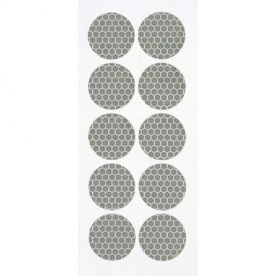 Pedazos de pegatinas reflectante reflectante ruedas 10 diámetro 27 mm cubren rueda tuercas pernos tapa carro