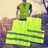 Chaleco reflectante fluorescente amarillo / rojo de alta