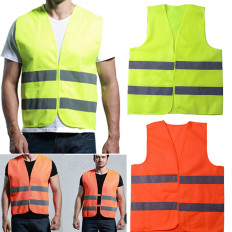 Reflective Vest Fluorescent Yellow / Red high visibility one size