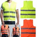 Chaleco reflectante fluorescente amarillo / rojo de alta visibilidad de un tamaño